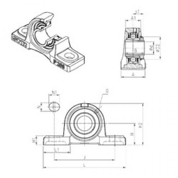 SNR UKP317H bearing units #3 image