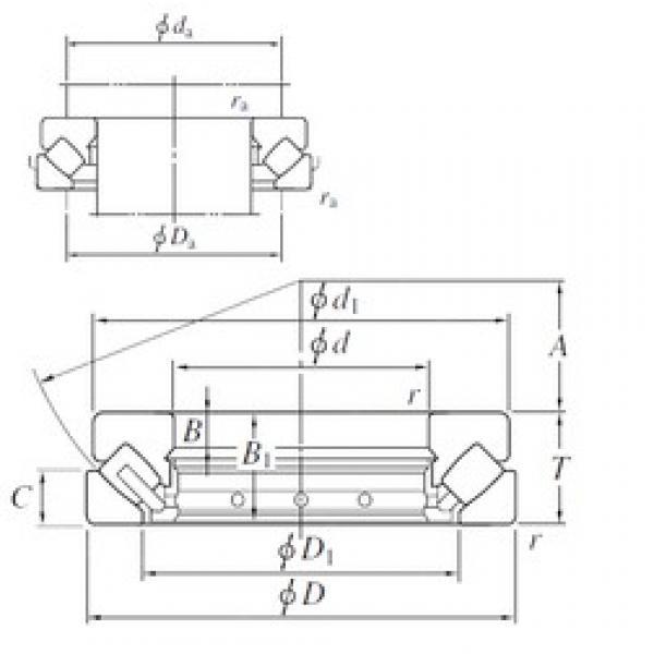 110 mm x 230 mm x 26 mm  KOYO 29422R thrust roller bearings #3 image
