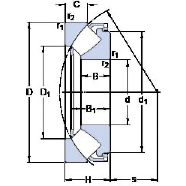 180 mm x 360 mm x 69.5 mm  SKF 29436 E thrust roller bearings #3 image