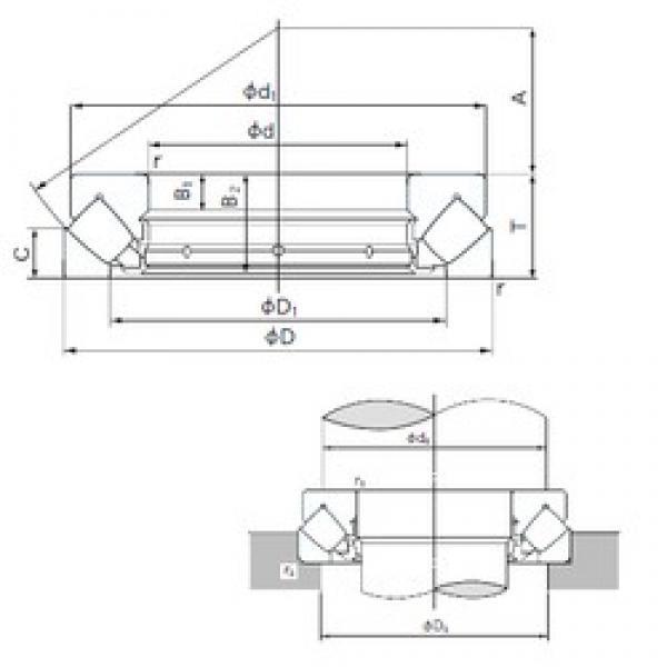 460 mm x 620 mm x 30 mm  NACHI 29292E thrust roller bearings #3 image