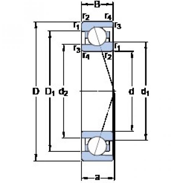 85 mm x 120 mm x 18 mm  SKF 71917 ACE/HCP4A angular contact ball bearings #3 image