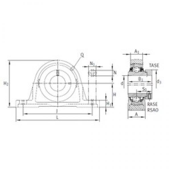 INA LASE45 bearing units #3 image