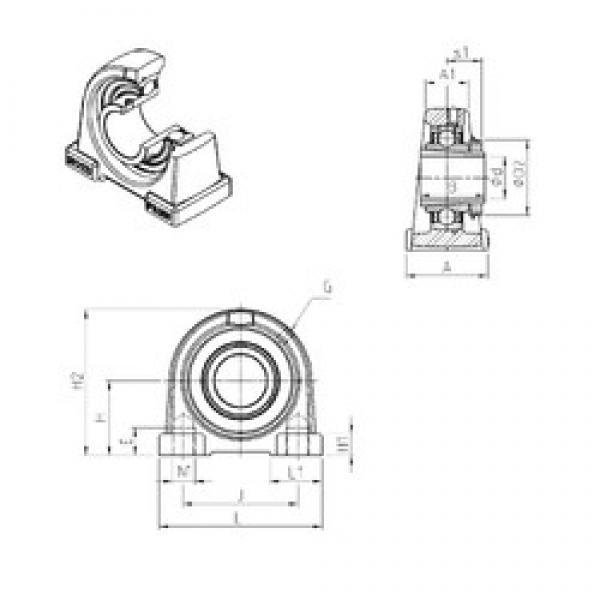 SNR UKPAE210H bearing units #3 image