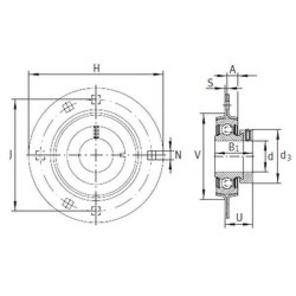 INA RA30 bearing units #3 image