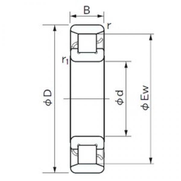 60 mm x 130 mm x 31 mm  NACHI N 312 cylindrical roller bearings #3 image