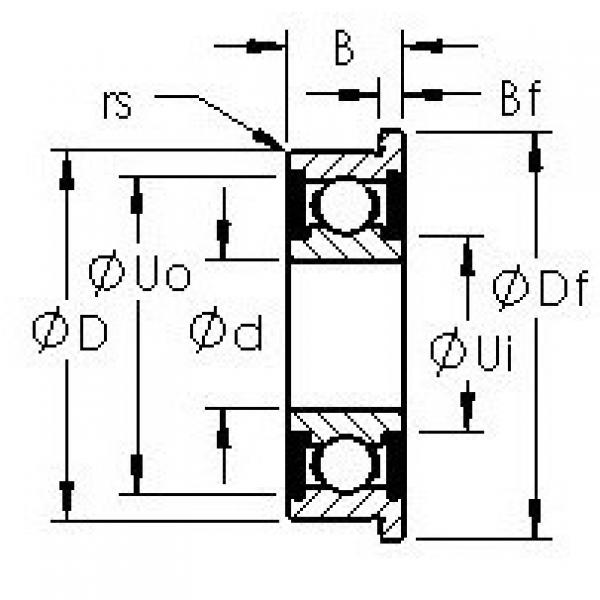 AST SFR6-2RS deep groove ball bearings #3 image