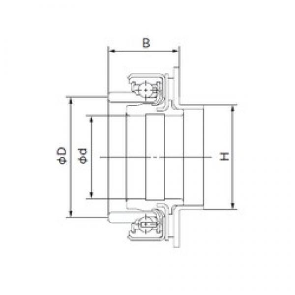 38 mm x 68 mm x 42.5 mm  NACHI 68SCRN53P deep groove ball bearings #3 image