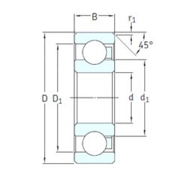 55 mm x 100 mm x 21 mm  SKF 6211/HR11TN deep groove ball bearings #3 image