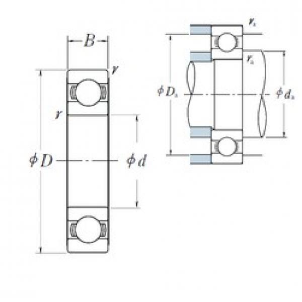 10 mm x 19 mm x 5 mm  NSK 6800 deep groove ball bearings #3 image