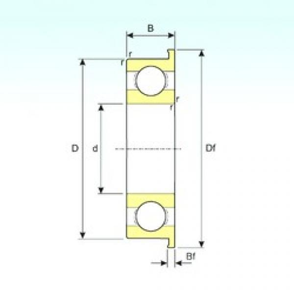 3 mm x 9 mm x 2,5 mm  ISB MF93 deep groove ball bearings #3 image