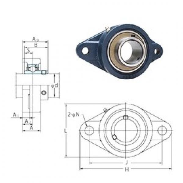 FYH UCFL208-25E bearing units #3 image