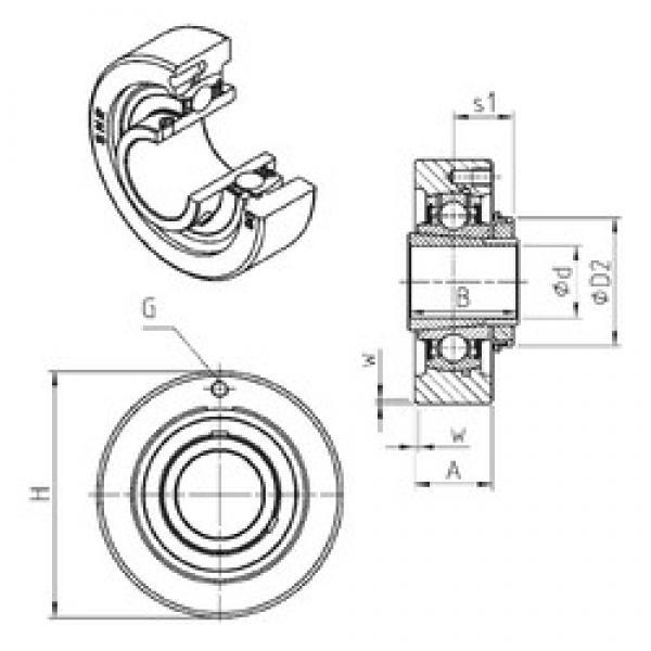 SNR UKC307H bearing units #3 image