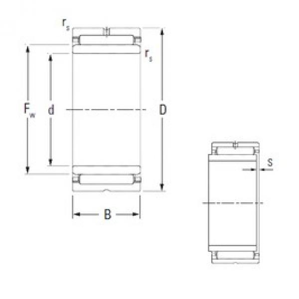 50 mm x 72 mm x 30 mm  KOYO NA5910 needle roller bearings #3 image