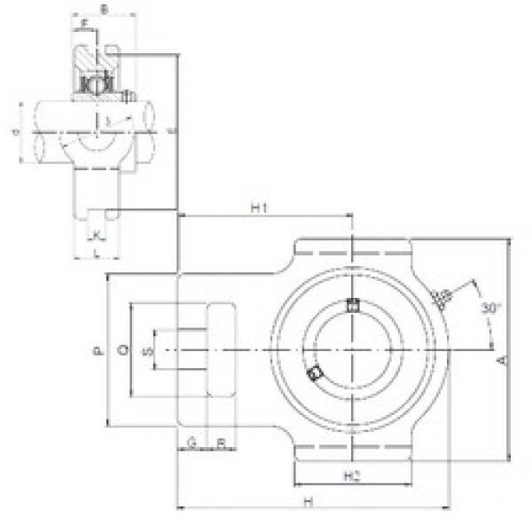 ISO UCTX08 bearing units #3 image