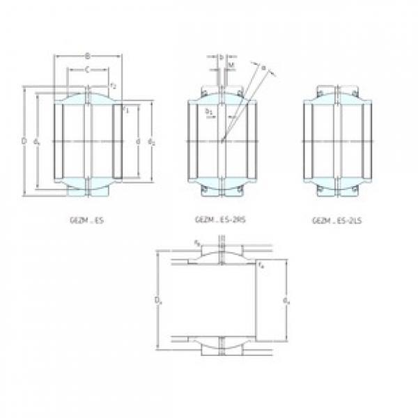 101,6 mm x 158,75 mm x 152,4 mm  SKF GEZM400ES plain bearings #3 image