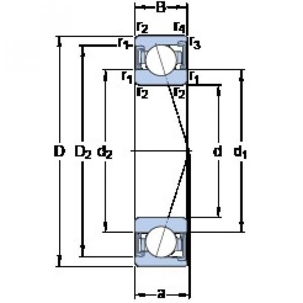 30 mm x 47 mm x 9 mm  SKF S71906 ACD/P4A angular contact ball bearings #3 image