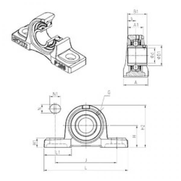 SNR UCP313 bearing units #3 image