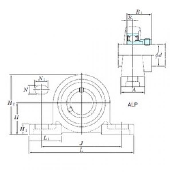 KOYO ALP208-24 bearing units #3 image