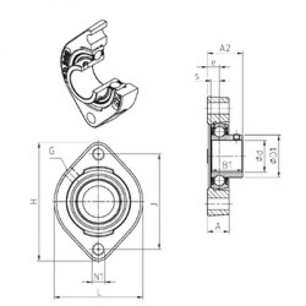 SNR USFD206M100 bearing units #3 image