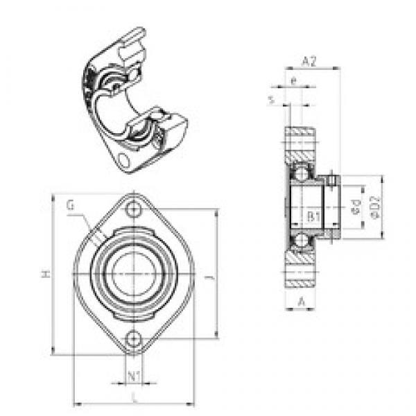 SNR ESFD203M100 bearing units #3 image