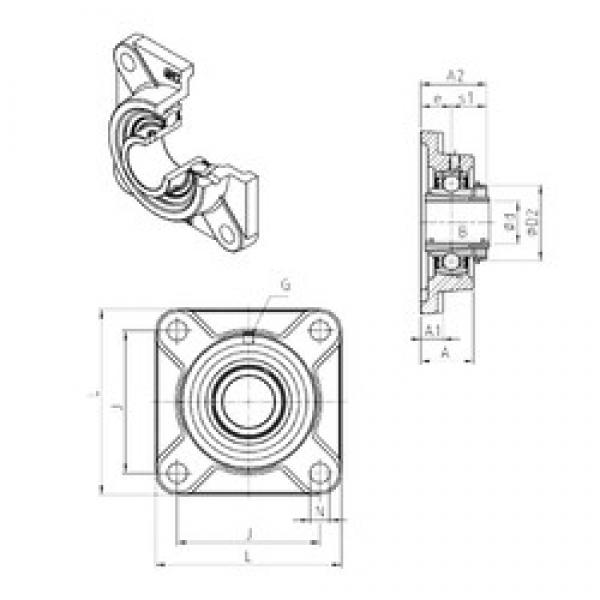 SNR UKF311H bearing units #3 image