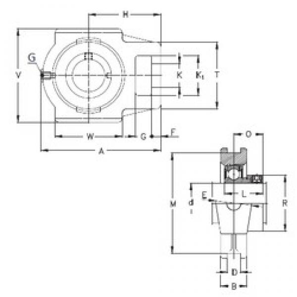 90 mm x 32 mm x 66 mm  NKE RTUEO 90 bearing units #3 image