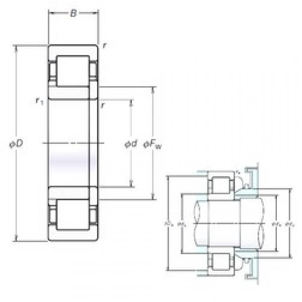 180 mm x 320 mm x 52 mm  NSK NUP236EM cylindrical roller bearings #3 image