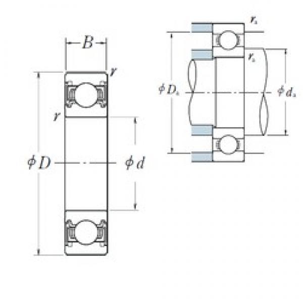 105 mm x 130 mm x 13 mm  NSK 6821VV deep groove ball bearings #3 image