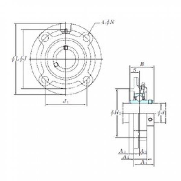 KOYO UCFC206 bearing units #3 image