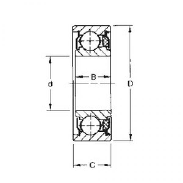 17 mm x 40 mm x 13,67 mm  Timken 203KTD deep groove ball bearings #3 image