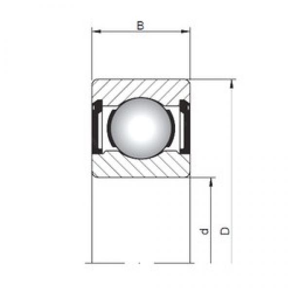 1 mm x 4 mm x 2,3 mm  ISO 619/1 ZZ deep groove ball bearings #3 image
