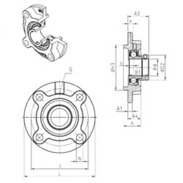 SNR ESFC208 bearing units #3 image