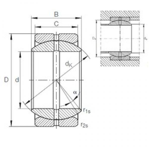 25,4 mm x 41,275 mm x 22,225 mm  INA GE 25 ZO plain bearings #3 image