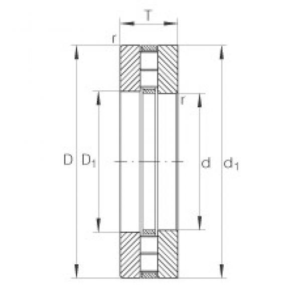INA 89322-M thrust roller bearings #3 image