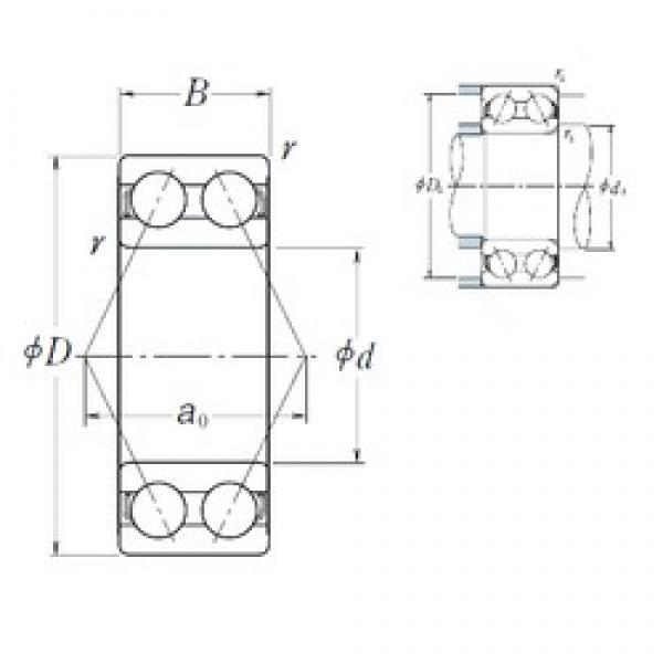 60 mm x 130 mm x 54 mm  NSK 5312 angular contact ball bearings #3 image