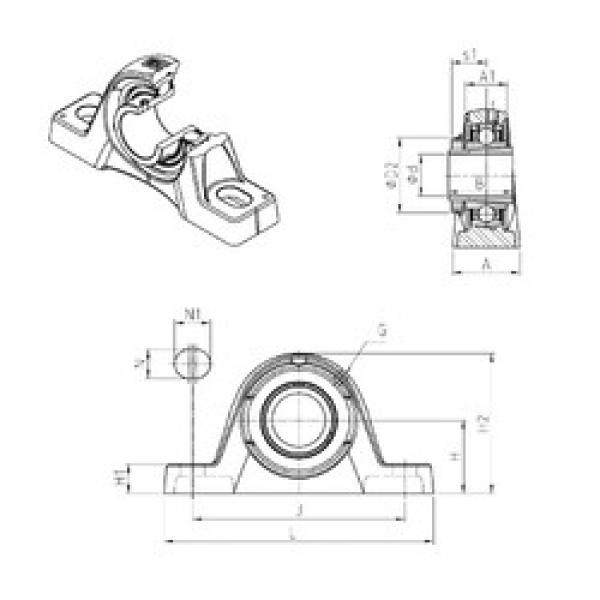 SNR UKPLE210H bearing units #3 image