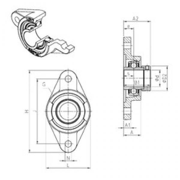 SNR EXFL318 bearing units #3 image
