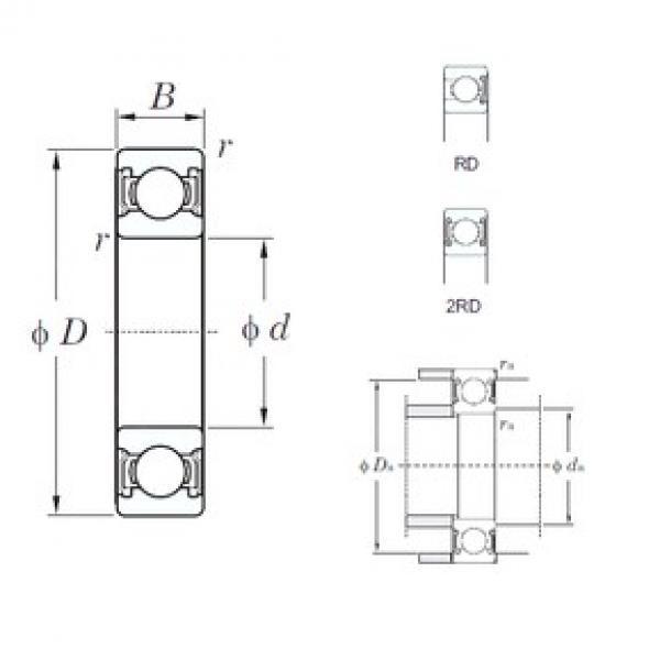 45 mm x 100 mm x 25 mm  KOYO 6309-2RD deep groove ball bearings #3 image