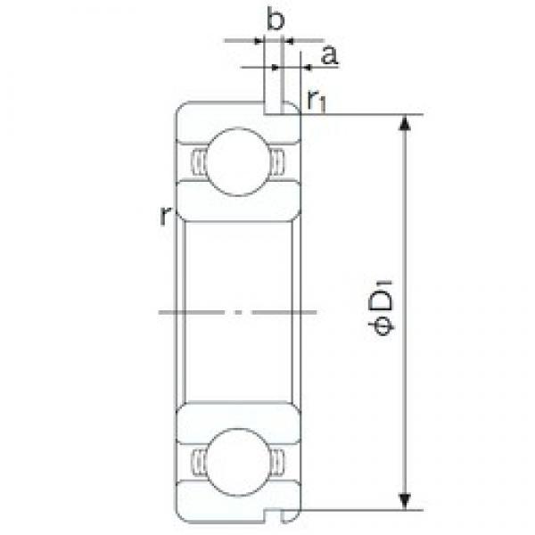 55 mm x 90 mm x 18 mm  NACHI 6011N deep groove ball bearings #3 image