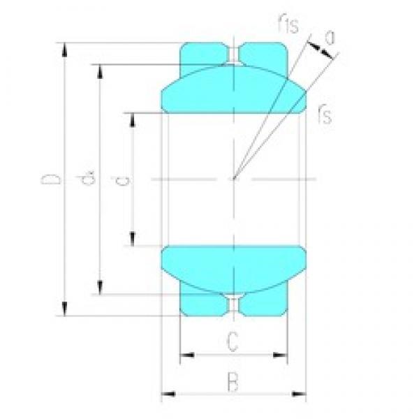 20 mm x 40 mm x 25 mm  LS GEBJ20S plain bearings #3 image