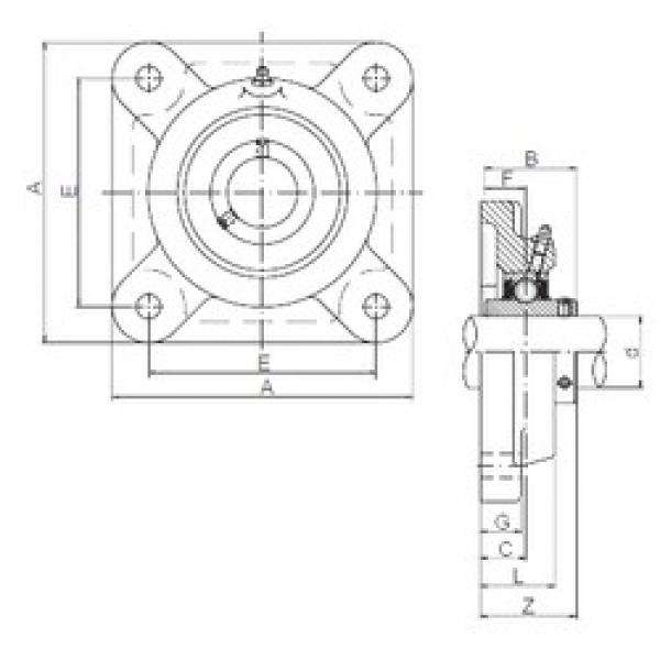 ISO UCF310 bearing units #3 image