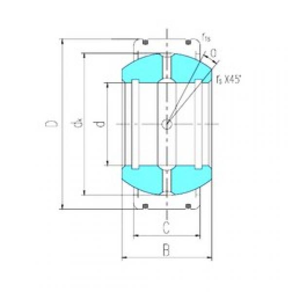 25 mm x 68 mm x 40 mm  LS GEK25XS-2RS plain bearings #3 image