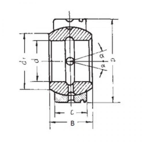 85 mm x 135 mm x 74 mm  FBJ GE85XS/K plain bearings #3 image