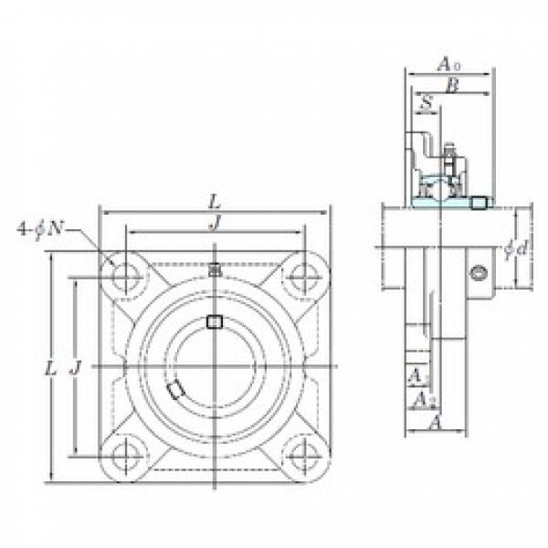KOYO UCFX18 bearing units #3 image
