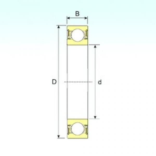 25 mm x 62 mm x 17 mm  ISB 6305-2RZ deep groove ball bearings #3 image