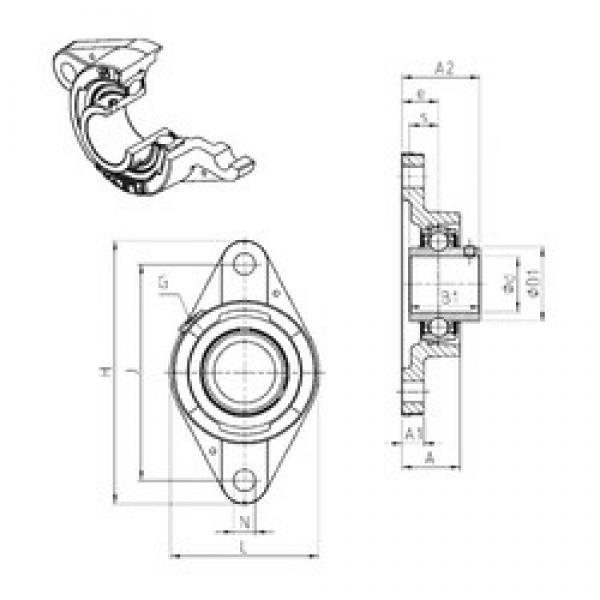 SNR UCFLE207 bearing units #3 image