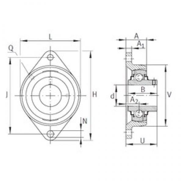 INA RCJTY1-3/4 bearing units #3 image