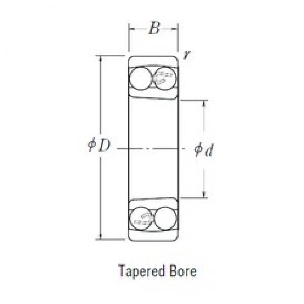 40 mm x 80 mm x 23 mm  FBJ 2208K self aligning ball bearings #3 image