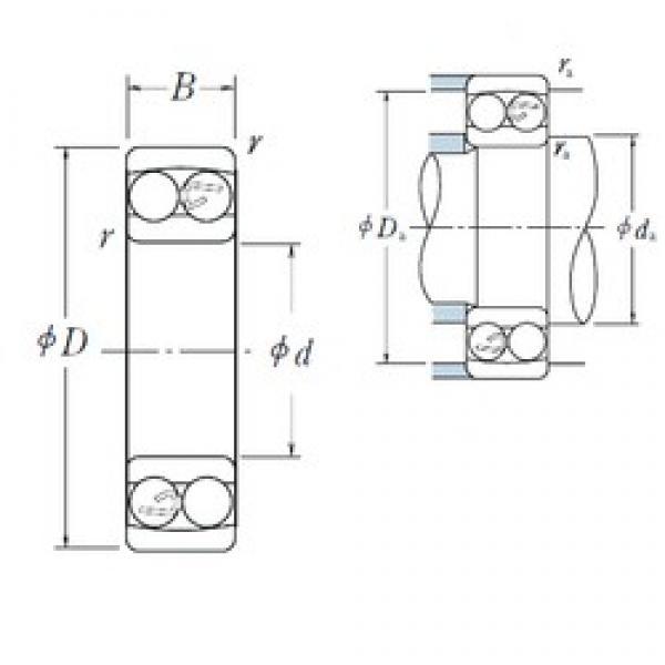 10 mm x 30 mm x 9 mm  NSK 1200 self aligning ball bearings #3 image