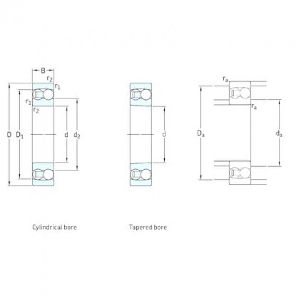 30 mm x 72 mm x 27 mm  SKF 2306 self aligning ball bearings #3 image
